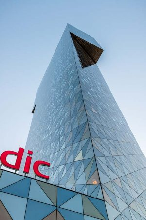 Victoriatornet | Victoria Tower | Scandic Hotel, Kista, Stockholm, Sweden: Exteriör | Exterior, Architect Gert Wingårdh [2015]Lat: 59.407006N, Long: 17.957669E © Kristian Adolfsson (www.adolfsson.photo)