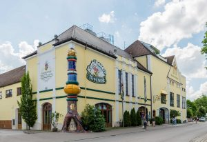 Kuchlbauer Weissbierbrauer Hundertwasser, Abensberg, Bayern | Bavaria, Deutschland | Germany: Exterior | Außenansicht | exteriör | Architect Friedensreich Hundertwasser [2018]Lat: 48.816884N, Long: 11.843122E Copyright © Kristian Adolfsson / www.adolfsson.photo