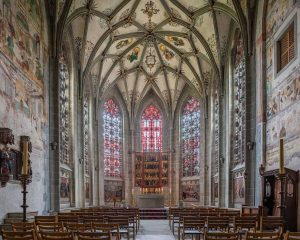 Münster | Muenster St. Maria und Markus, Reichenau-Mittelzell, Deutchland | Germany: Altar, screen, Stained glass windows | Altar, Altarretabel, Bleiglasfenster [2018]Lat: 47.699040N, Long: 9.062026E Copyright © Kristian Adolfsson / www.adolfsson.photo