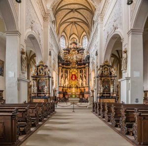Obere Pfarre Kirche, Bamberg, Bayern | Bavaria, Germany | Deutschland: Altar, screen, Interior | Altar, Altarretabel, Innenansicht [2018]Lat: 49.889368N, Long: 10.884436E Copyright © Kristian Adolfsson / www.adolfsson.photo