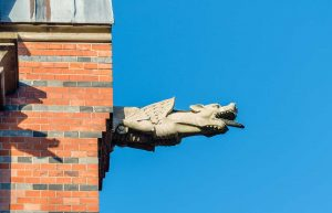Allhelgonakyrkan | All Saints Church, Lund, Skåne, Sweden: Vattenkastare | Gargoyles, arkitekt | architect: Helgo Zettervall [2015]<br>Lat: 55.709638N, Long: 13.193902E Copyright © Kristian Adolfsson / www.adolfsson.photo