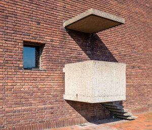 Helgeandskyrkan | Church of the Holy Spirit, Lund, Sweden: Pulpit, exterior | Predikstol, exteriör | Kanzel, Aussenansicht [2019]<br>Lat: 55.693805N, Long: 13.179181E Copyright © Kristian Adolfsson / www.adolfsson.photo