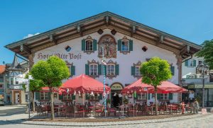 Lüftlmalerei Hotel Alte Post, Dorfstraße 19, Oberammergau, Bavaria | Bayern, Germany | Deutschland | Tyskland [2018]Lat: 47.598697N, Long: 11.064472E Copyright © All rights reserved. Kristian Adolfsson / www.adolfsson.photo
