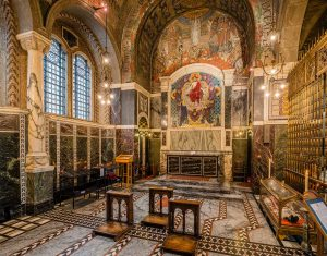 Westminster Cathedral, London, United Kingdom: Holy Souls Chapel, Reliquary of Saint John Southworth, interior [2016]Lat: 51.495792N, Long: 0.139447W Copyright © All rights reserved. Kristian Adolfsson / www.adolfsson.photo