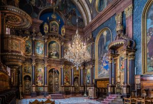 Griechenkirche | Holy Trinity Greek Church, Wien | Vienna, Austria: Iconostasis / icon screen, pulpit, cathedra | Ikonostase, Kanzel, Kathedra [2016]Lat: 48.210692N, Long: 16.377461E Copyright © All rights reserved. Kristian Adolfsson / www.adolfsson.photo