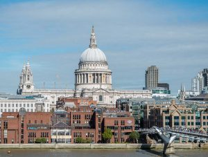 Saint Paul's Cathedral, London, England, United Kingdom: Exteriör | Exterior from Tate Modern [2016]<br>Lat: 51.513825N, Long: 0.098319W Copyright © All rights reserved. Kristian Adolfsson / www.adolfsson.photo