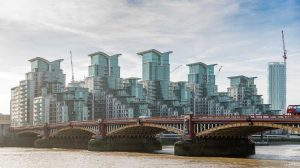 St George Wharf, Vauxhall Bridge, London skyline, UK: Exterior | Exteriör [2016]<br>Lat: 51.485667N, Long: 0.125967W Copyright © All rights reserved. Kristian Adolfsson / www.adolfsson.photo